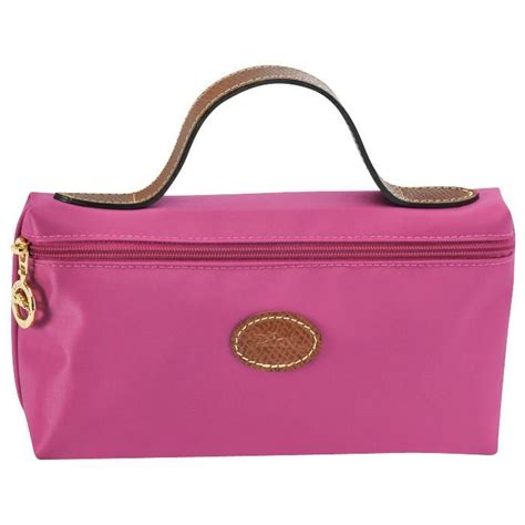 Authentic Longch Le Pliage Cosmetic Grey longch cosmetic bag fuchsia longch bags the world brand handbags made by longch