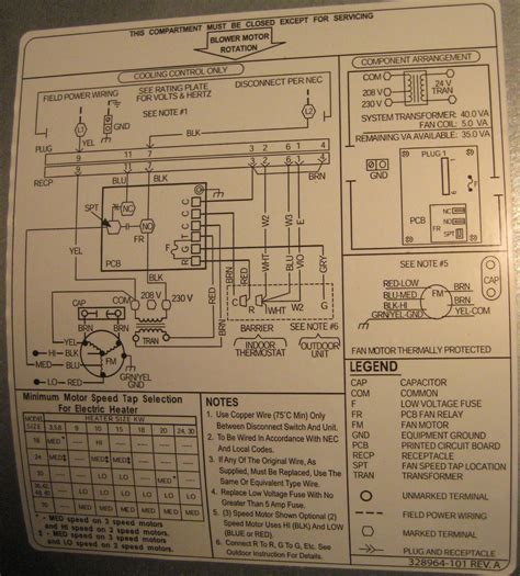 heat thermostat wiring diagram trane heat free