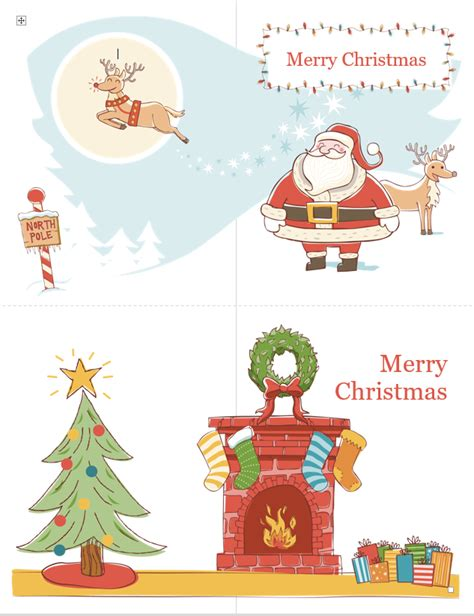word christmas card templates free best template idea