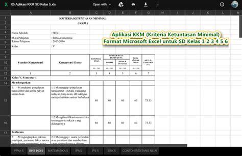 format dokumen microsoft excel adalah aplikasi kriteria ketuntasan minimal format microsoft