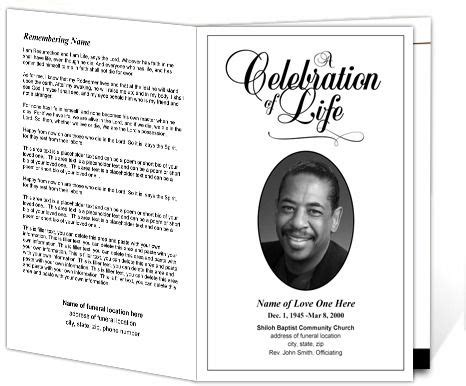 Classic Funeral Program Template Memorial Service Bulletin Templates Stuff To Buy Memorial Template Microsoft Word