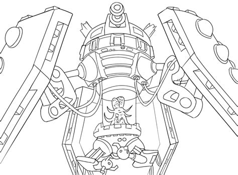 dr who tardis free colouring pages