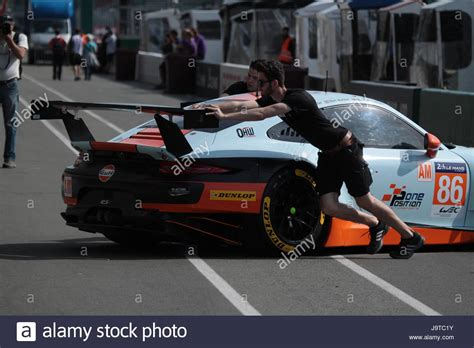 Porsche Racing Team by Le Mans France 2nd June 2017 British Gulf Racing Team