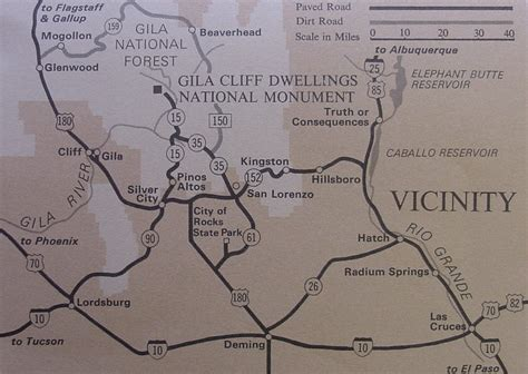 maps gila cliff dwellings national monument