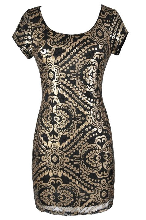 Black Gold Sequin Dress W8242usi D black and gold sequin dress black and gold sequin