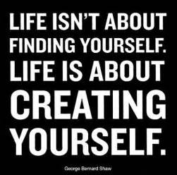 Blind Side Band Life Is About Creating Yourself In Love Quotes And Sayings