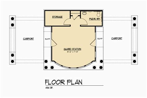 guard house floor plan piedmont guard house