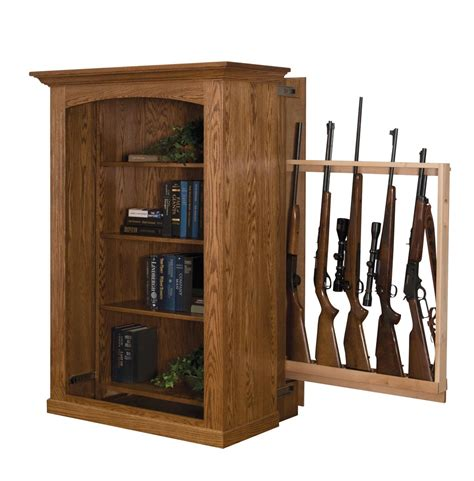 hidden gun cabinet bookcase small bookcase with hidden gun cabinet from dutchcrafters