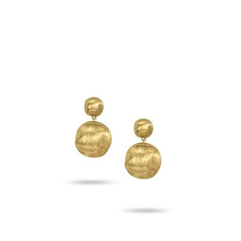 18k Gold Drop Earring 18k yellow gold small drop earrings africa ob921 y 02