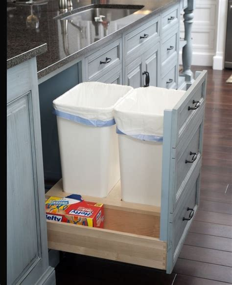 kitchen cabinet recycle bins trash recycle bin inside cabinet for the home pinterest