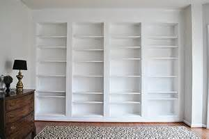 Bookshelves Look Built In How To Build Diy Built In Bookcases From Ikea Billy