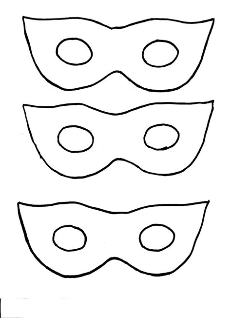 printable mask template free printable masks superhero clipart best
