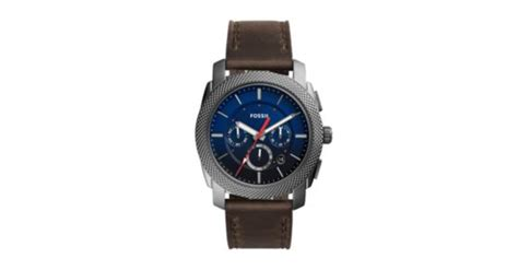 Fossil Fs 5000 Chronograph machine chronograph gray leather fossil