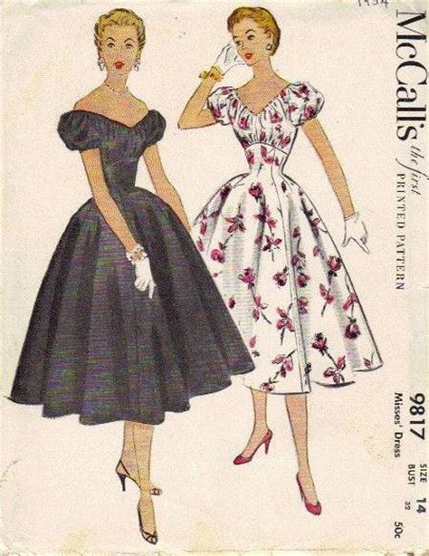 1950s swing dress pattern mccall s 1950s sewing pattern full skirt swing dress puff