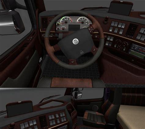 volvo 2012 black orange interior ets 2 mods euro truck simulator 2 mods new volvo interior by jcv