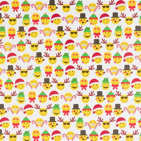 emoji xmas wrapping paper christmas emoji wrapping paper the container store