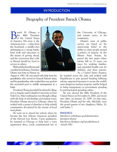 barack obama biography early life biography of president barack obama the historic journey