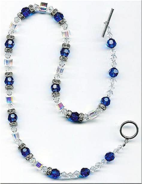 Handcrafted Jewels - blue swarovski necklace set