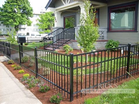 aluminum fence black aluminum fence ricks custom