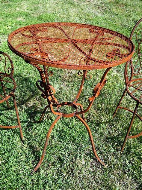wrought iron mesh patio furniture wrought iron mesh topped patio tables