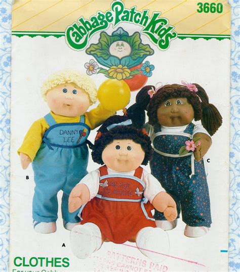 cabbage patch doll clothes sewing pattern 1980s
