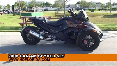 can am spyder for sale used 2008 can am spyder se5 3 wheeler for sale
