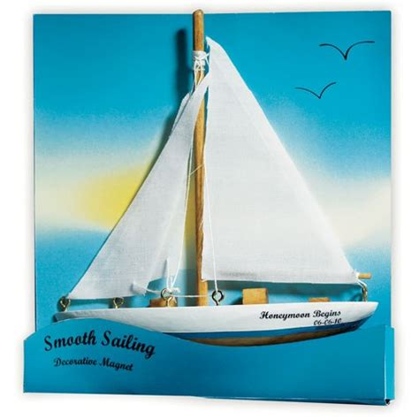 sailboat gifts quot smooth sailing quot sailboat magnet gift favor weddingstar