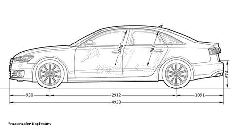 Audi A6 Abmessungen by Abmessungen Gt Audi Schweiz