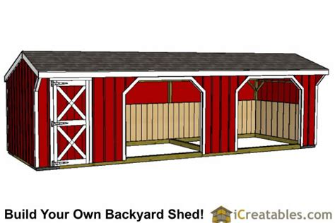 Tack Shed Plans by Run In Shed Plans Building Your Own Barn Icreatables