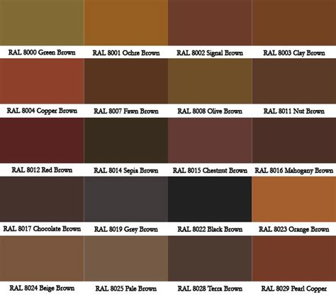 names for different shades of brown brown hairs