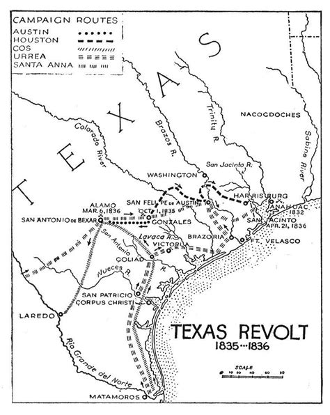 texas revolution map 1836 alamo battle of the the handbook of texas texas state historical association tsha