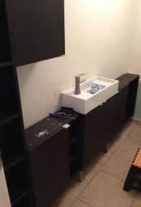 white ikea single wash basin bathroom sink:  using wall ikea bathroom cabinet excellent black and white bathroom