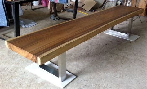 wood slab bench live edge bench table reclaimed acacia wood solid slab