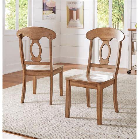 napoleon wood dining chair homesullivan sawyer oak wood napoleon back dining chair