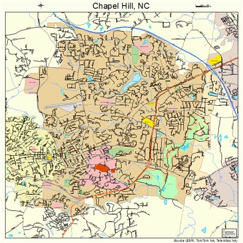 map of carolina chapel hill chapel hill carolina map 3711800