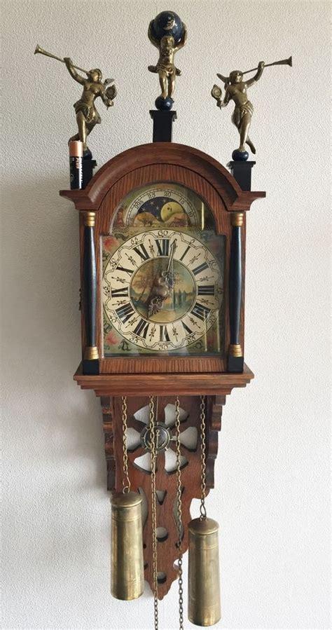 klok schippertje big vintage warmink dutch schippertje wall clock oak