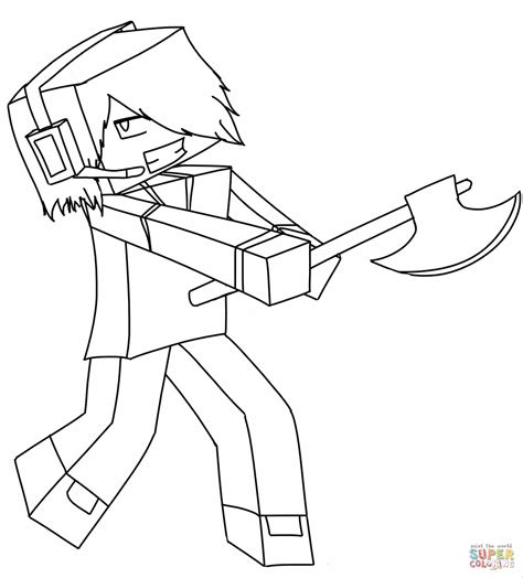 minecraft coloring pages steve with armor minecraft steve with diamond sword and armor coloring