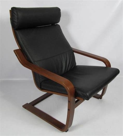 ikea black leather chair ikea poang black leather dark brown chair 400 239 43