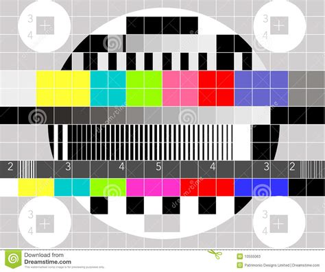 pattern test sound tv multicolor signal test pattern stock photos image