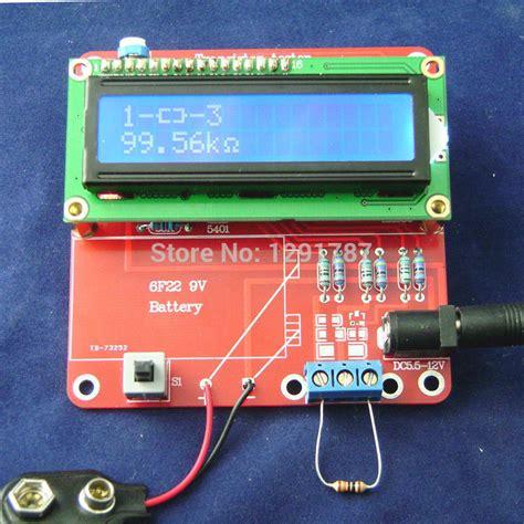 esr capacitor tester kit diy kit 2015 new transistor tester capacitor esr inductance resistor meter npn pnp mosfet free