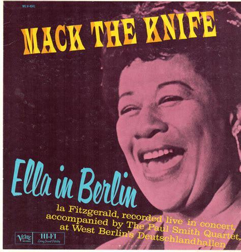 the knife vinyl ella fitzgerald mack the knife ella in berlin vinyl