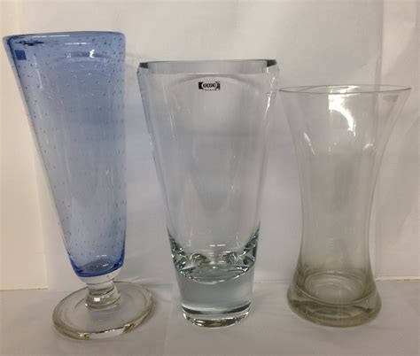 Krosno Vases by Krosno A 20th Century Clear Glass Vase Of
