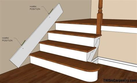 Best Way To Paint Line Between Wall And Ceiling - scribing skirt boards at the edge of stairs fix for the