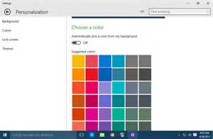 to the colors change windows 10 window color and appearance