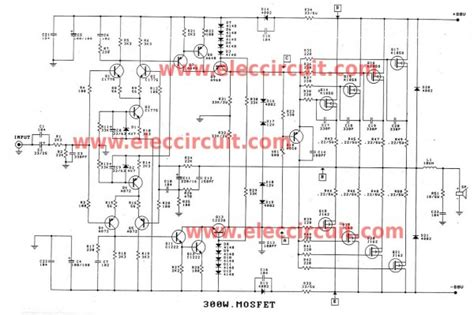 600 watts lifier schematic diagram 300 1200w mosfet lifier for professionals