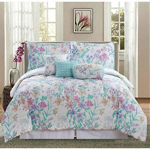 pastel comforter sets springtime pastels wild flowers 7 piece bed in bag