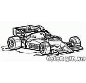 填色画  賽車上世紀80年代