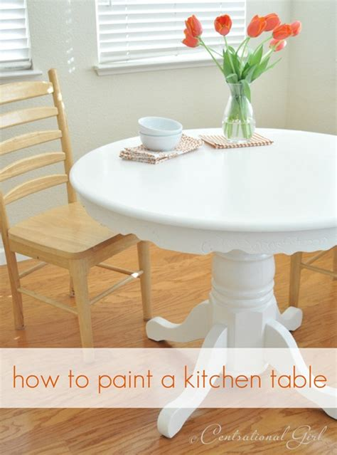 How To Paint Kitchen Table by Painting A Kitchen Table Centsational