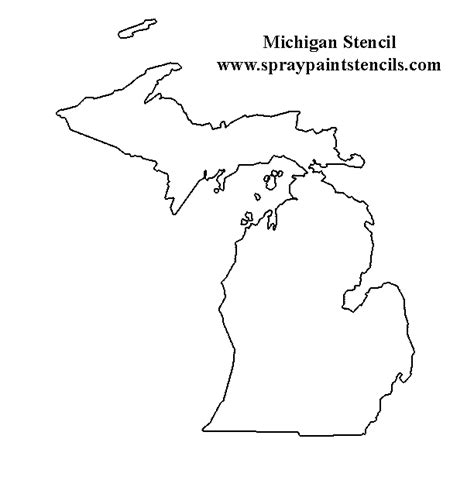 Outline Of Michigan State by States And Country Stencils Page 3