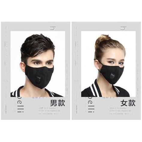 Masker Anti Polusi masker filter anti polusi pria black jakartanotebook
